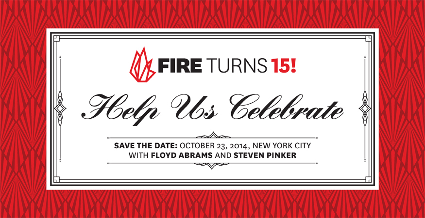 FIRE's 15th Anniversary Celebration