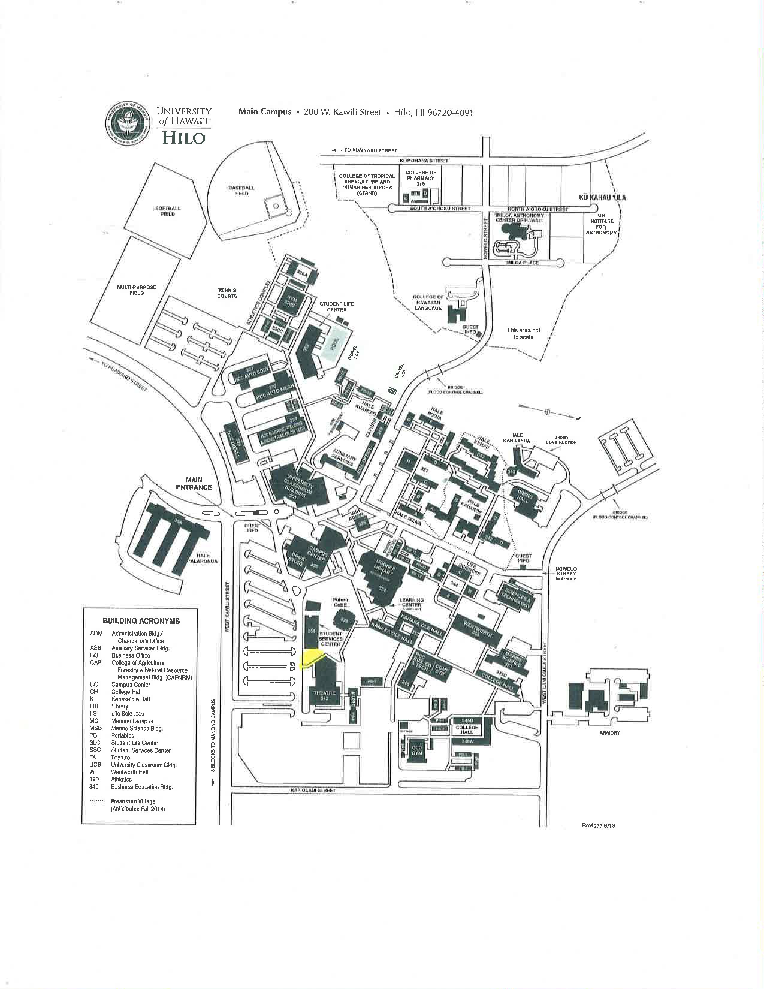 University Of Hawaii Hilo Campus Map Fire