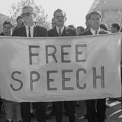 The Free Speech Movement vs. UC Berkeley Chancellor Dirks on Free Speech