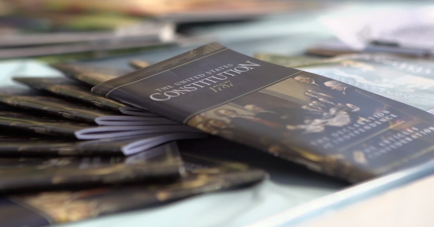 VIDEO: Students Pass Out Constitutions on Constitution Day, Campus Does Not Implode