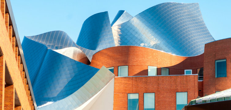 Case Western Reserve Peter B. Lewis Building, designed by renowned architect Frank Gehry CREDIT Kenneth Sponsler  Shutterstock.com feat