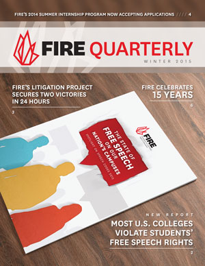 FIRE Winter Quarterly 2015