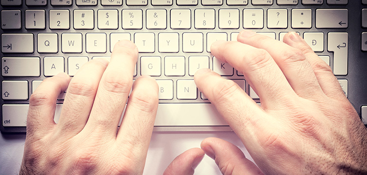 typing hands instagram