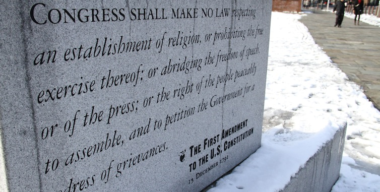 snowy first amendment rock - feat