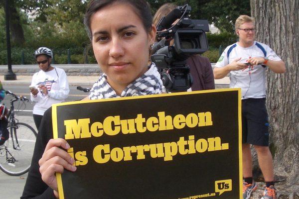 McCutcheon Protestor