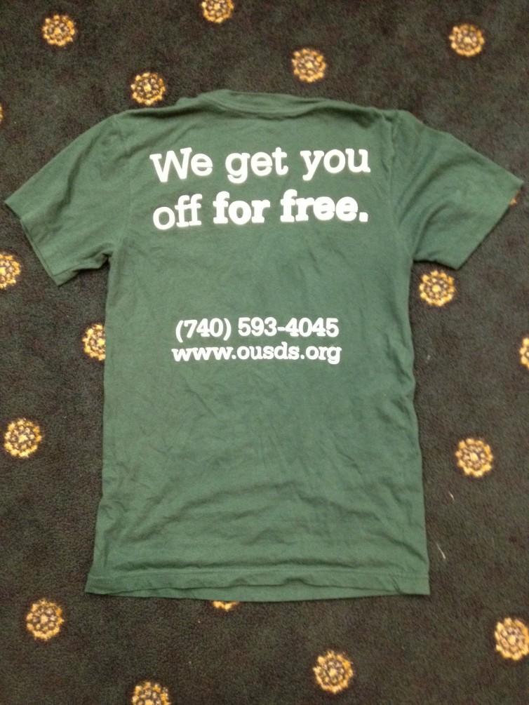 Ohio U T-shirt back