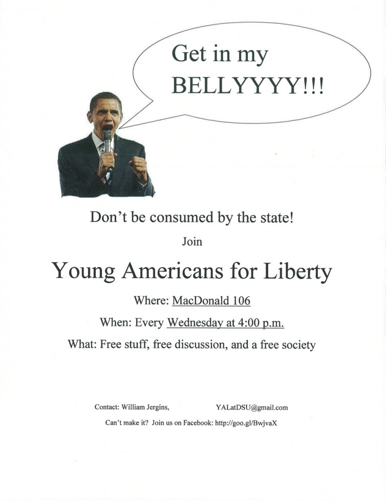 Flyer criticizing President Barack Obama