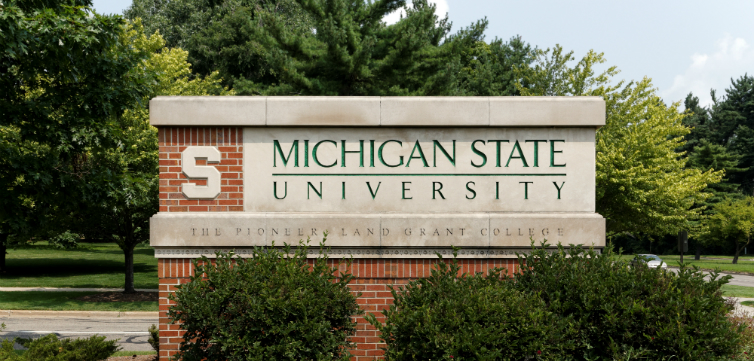 michigan state sign feat