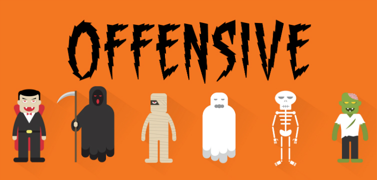 Halloween offensive costumes feat