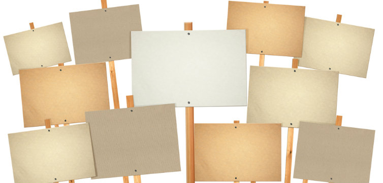 blank protest signs feat