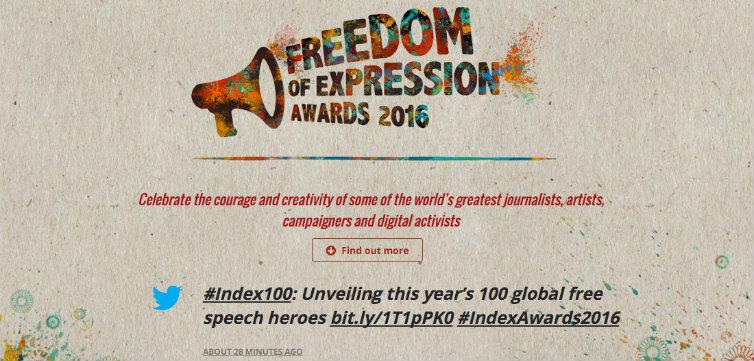 Index On Censorship Awards Main 2016 feat