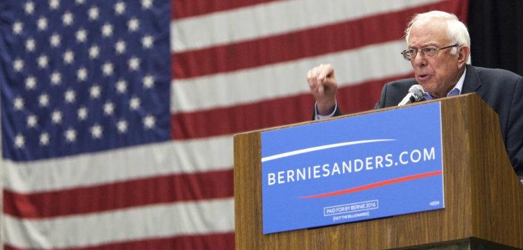 Bernie Sanders podium feat