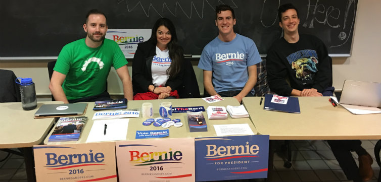 Bernie Georgetown Law tabling feat