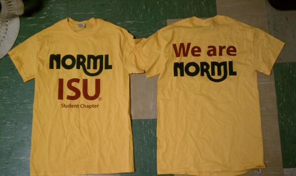 NORML Yellow t-shirt