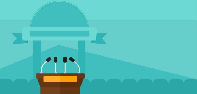 speaker podium feat