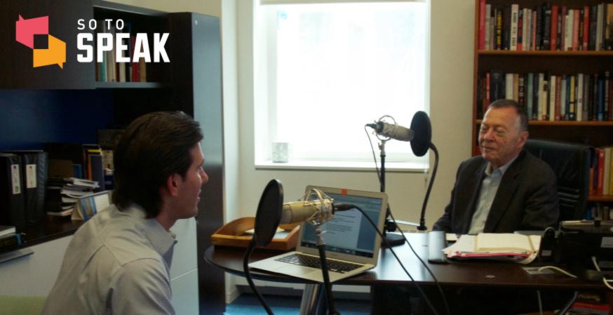 'So to Speak' Podcast: Aryeh Neier on 'Defending My Enemy'
