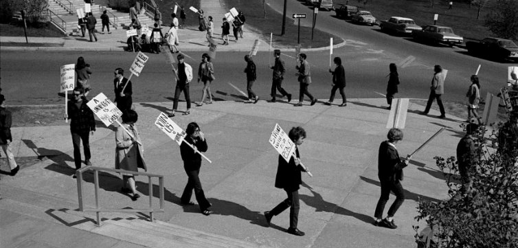 April 26, 1968, Community Strike, University of Connecticut students demonstrate against the Vietnam War – University of Connecticut Libraries, Thomas J. Dodd Research Center feat(2)