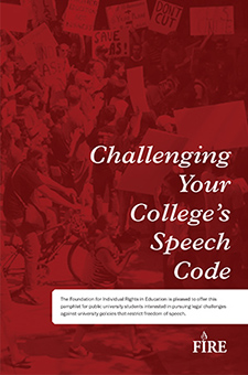 Challenging Your College's Speech Code