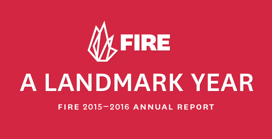 Check out FIRE's First-Ever Annual Report Infographic!