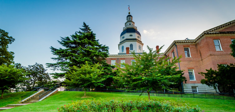 The Maryland State House in Annapolis, Md.  feat