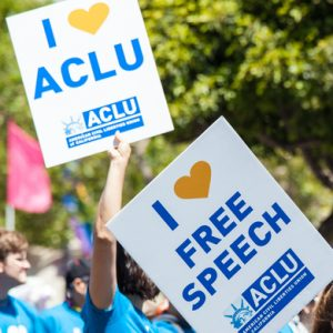 ACLU rally