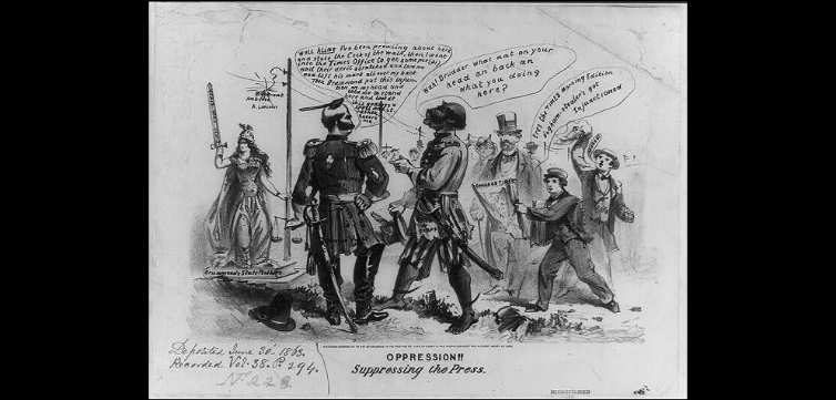 cartoon Ambrose Burnside Chicago Times feature