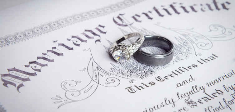 marriage certificate feature