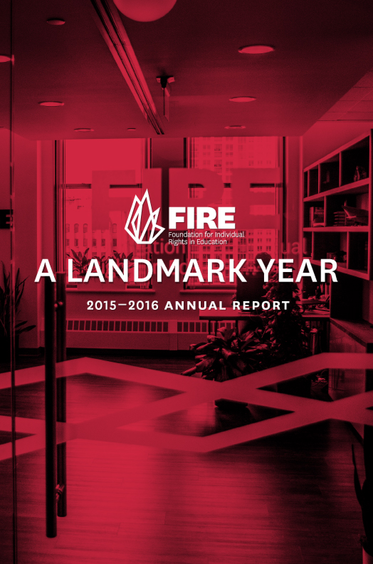 FIRE Annual Report 2015-16