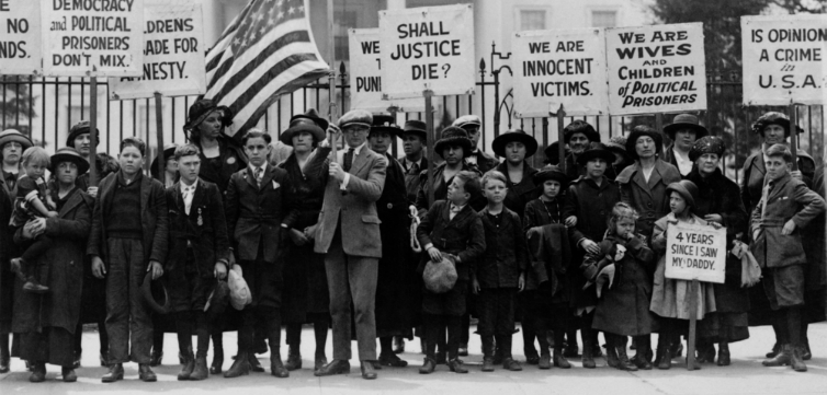 Espionage and Sedition Acts protest 1922 feature