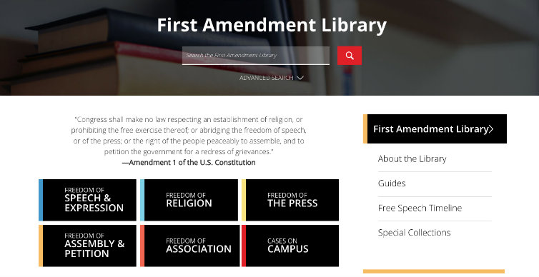 First Amendment Library Embed