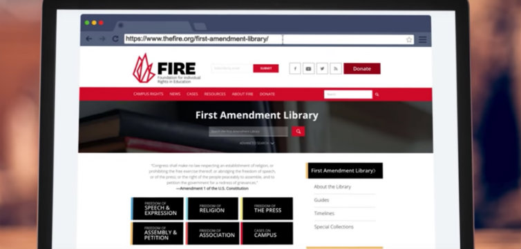 FIRE's First Amendment Library: Video Tutorial (VIDEO)