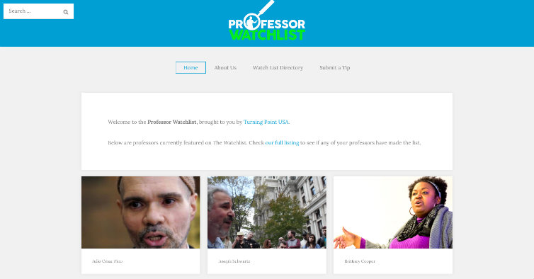professor watchlist tpusa embed