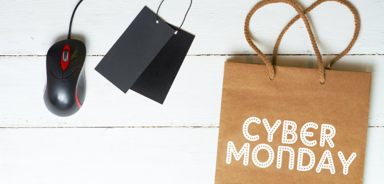 cyber monday shopping bag feat