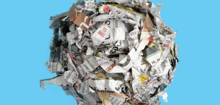 stolen crumpled newspaper feat