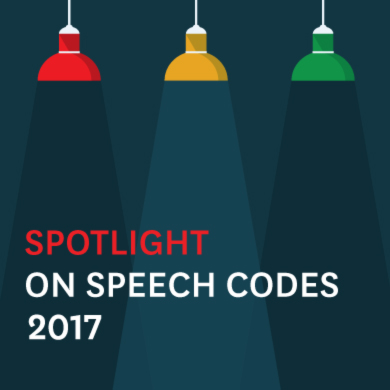 Spotlight on Speech Codes 2016