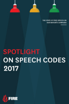 FIRE's latest 'Spotlight on Speech Codes' report.