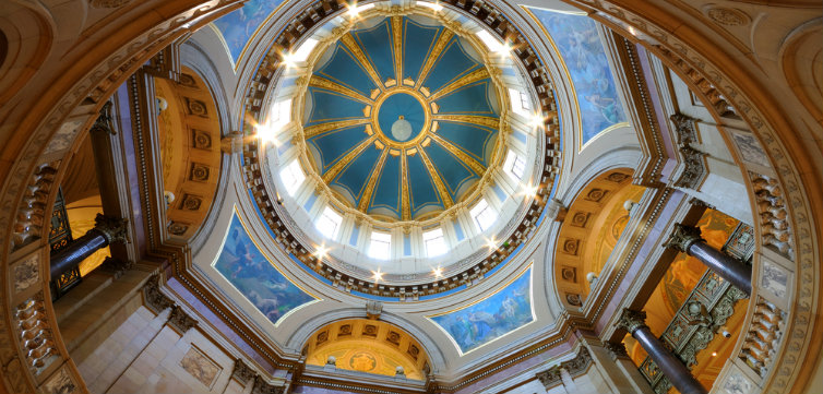 Interior of Minnesota State Capitol Rotunda St. Paul feat