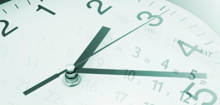 time clock calendar timing feat