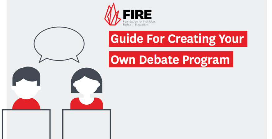 FIRE launches guide to hosting debates, offers funding opportunities