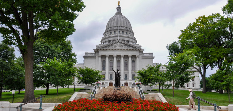 wisconsin state capitol flowers madison feat