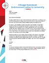 Chicago Statement Endorsement Letter to University