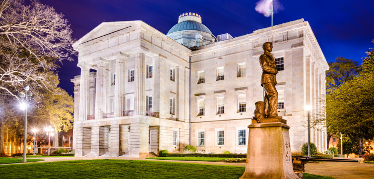 North Carolina state capitol building raleigh feat