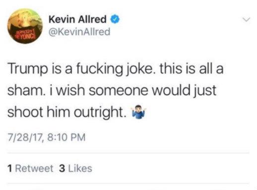 Kevin Allred Deleted Tweet embed