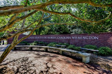 The campus of the University of North Carolina Wilmington. Credit: UNCW