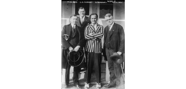 Will Hays, E.B. DeGroot, D. Fairbanks feature