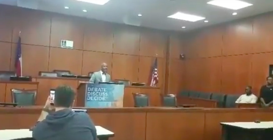 Texas Southern University president storms into student event, shuts down speech