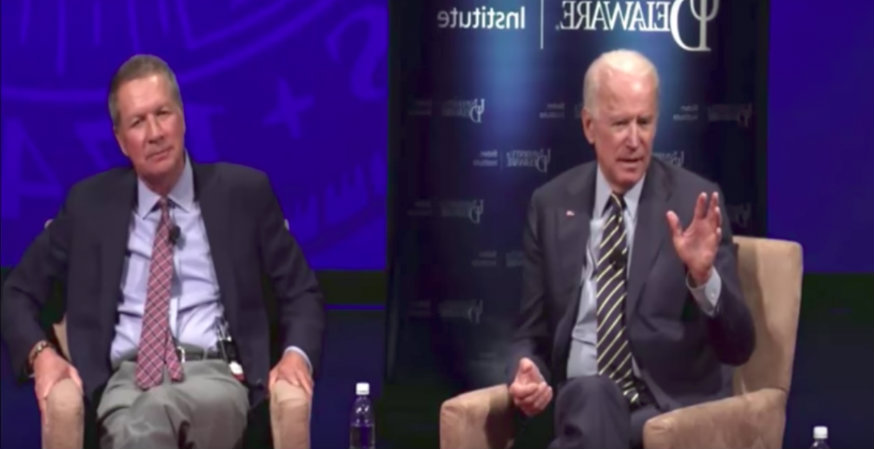 Biden: 'We hurt ourselves badly when we don't allow' free speech on campus (VIDEO)