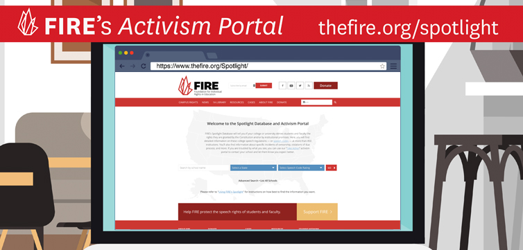 FIRE's activism portal offers newest, fastest way to protect free speech on campus (VIDEO)