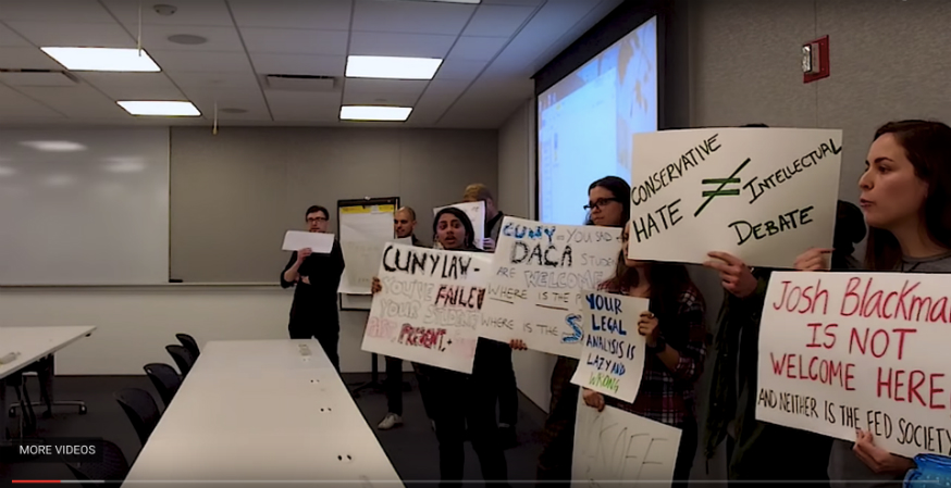 """Stop debating"": CUNY Law students disrupt speaker and his critic"