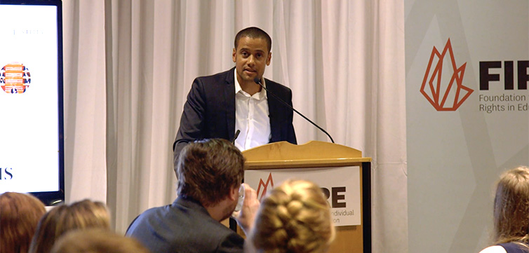"""""""Three Myths about Free Speech"""" by Jacob Mchangama – FIRE Student Network Summer Conference 2018"""